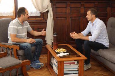 Maggiotti recibió la visita de Bucca y juntos recorrieron obras
