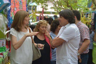 San Fernando acompañó la muestra de jardines provinciales en Plaza Mitre