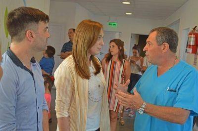 El intendente Ehcarren recibió la visita de la gobernadora bonaerense