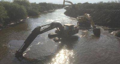 Progresan las obras en los canales Vila-Cululú y Cañada Sunchales