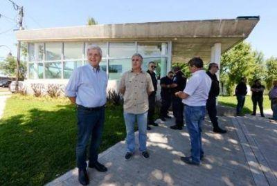 Andreotti recorrió la Posta de Seguridad Nº 10 que ya está en funcionamiento
