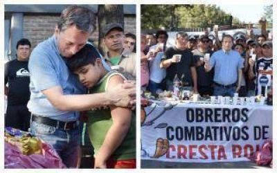 Echeverría: Gray comenzó el año brindando junto a trabajadores despedidos de Cresta Roja