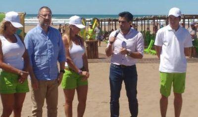 """López en la inauguración de la playa pública: """"Esto se logra por un trabajo mancomunado de todo un año"""""""
