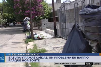 La calle Punta del Este acumula basura desde hace 10 días