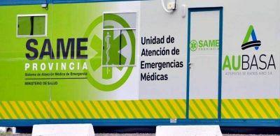Instalaron ocho puestos de atención médica para los usuarios de AUBASA