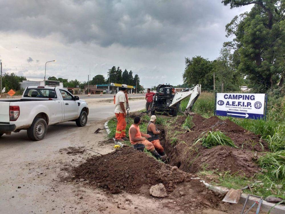 Concluyó la primera etapa del tendido de agua potable en el Acceso Sur de Paraná