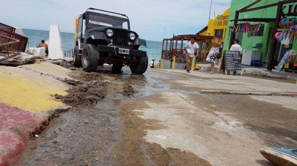 Tras derrames cloacales, inspeccionaron locales en la costa de Las Grutas