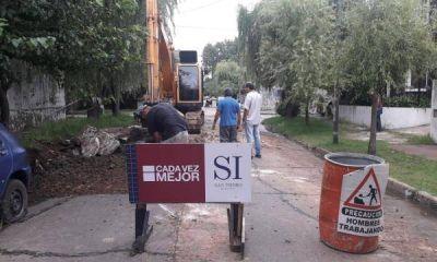Tareas de bacheo en el bajo de San Isidro