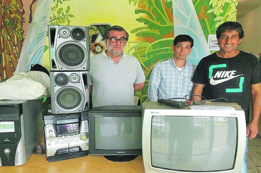 Se enviaron a reciclar 116.000 kilos de residuos eléctricos y electrónicos