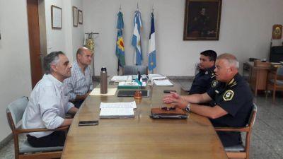 Reyes y Del Valle se reunieron con las autoridades policiales del distrito