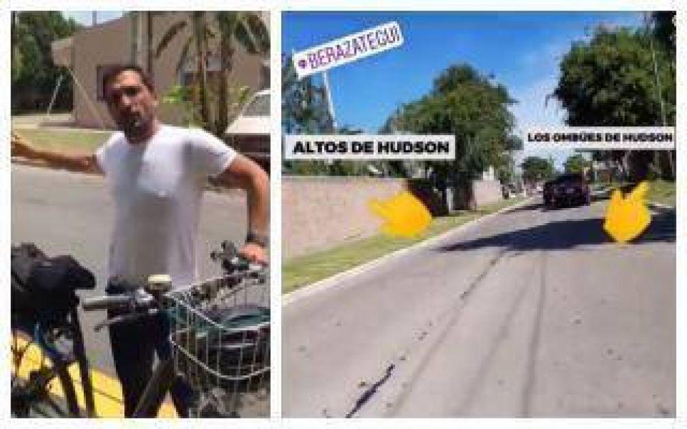 A lo CQC: El curioso método de Juan Patricio Mussi para controlar las obras en Berazategui