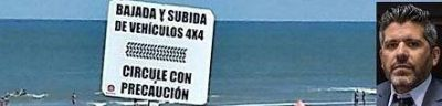 Dominguez Yelpo y un proyecto para regular la bajada de vehículos a la arena