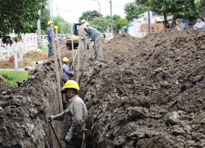 Esteban Echeverría: avanzan obras en nueva red secundaria cloacal de El Jagüel
