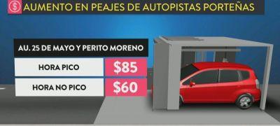 Los peajes de las autopistas porteñas suben este sábado hasta un 35%