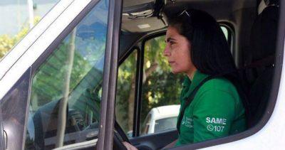 Por primera vez una mujer manejará una ambulancia del SAME
