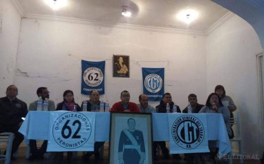 Reunión de las 62 Organizaciones Sindicales Peronistas de la región