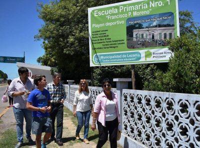 Harispe recorrió obras de infraestructura escolar