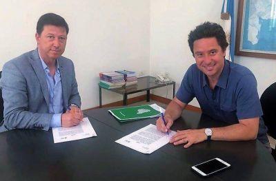 Bevilacqua firmó convenio con Sánchez Zinny para ejecución de una obra