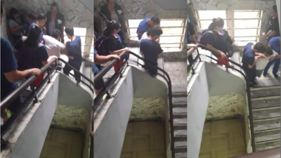 A falta de ascensores, en los hospitales bonaerenses los pacientes bajan por escalera