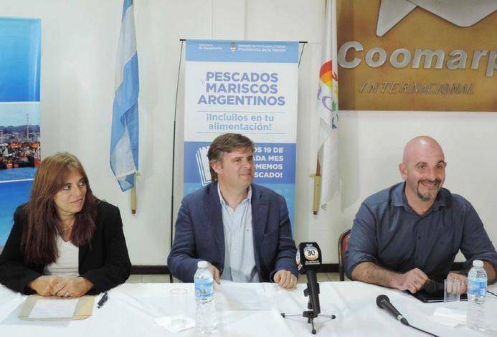"""Lanzaron en Mar del Plata la campaña """"Los 19 de cada mes comemos pescado"""""""