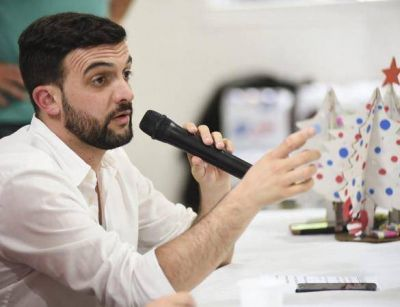 El diputado nacional del Movimiento Evita Leonardo Grosso de recorrida por Mardel