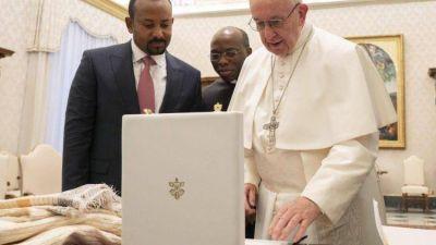 El Papa Francisco se encuentra con el Primer Ministro de Etiopía