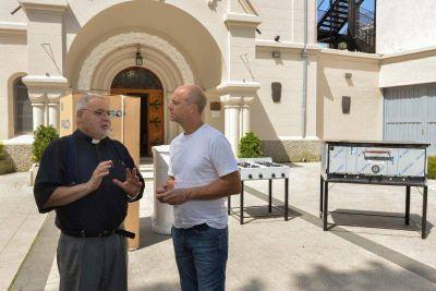 San Fernando donó equipamiento de cocina a la Parroquia Nuestra Señora de la Guardia