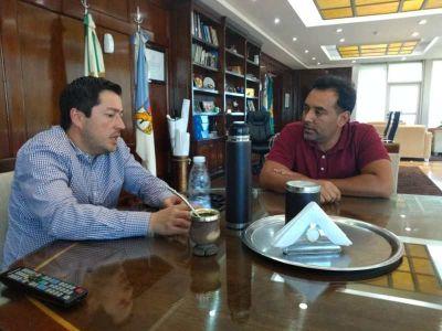 Molinero se reunió con el Intendente de Malvinas Argentinas