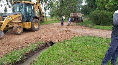 Alto Los Cardales: se realizaron trabajos de zanjeo y canalización de desagües