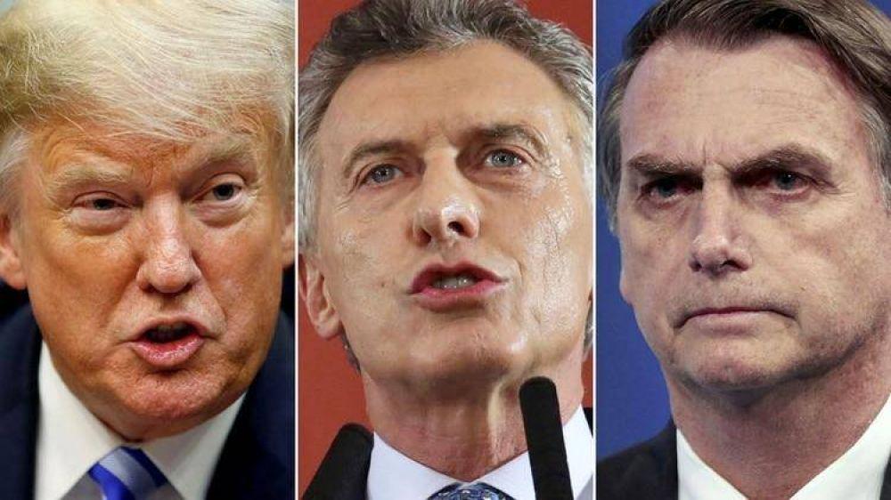 Trump, Bolsonaro y Macri buscan forzar la renuncia de Maduro y abrir la transición democrática en Venezuela