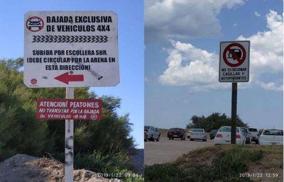 Instalaron carteles señalizadores en el sector playero