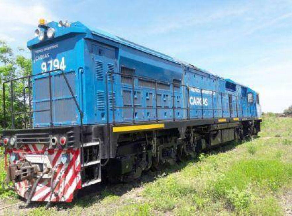 Llegaron las locomotoras de origen chino a Sáenz Peña