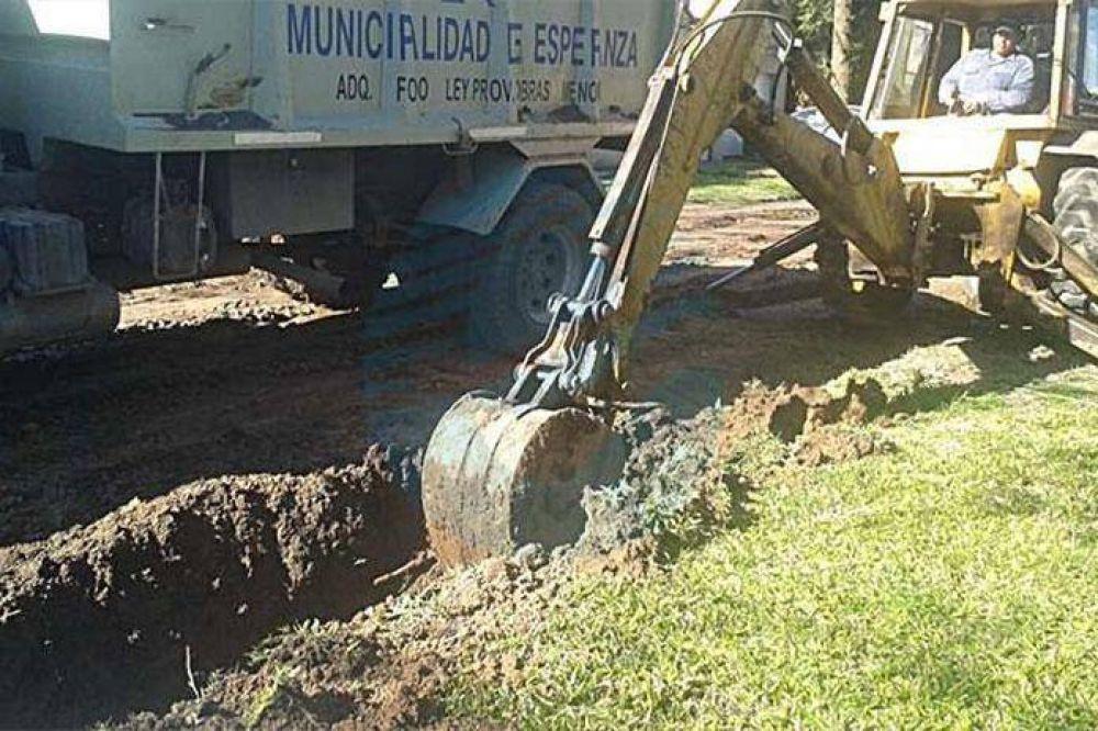 Intenso trabajo de limpieza de canales y desagües