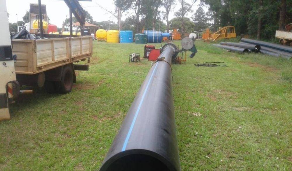 Avanzan obras de agua potable para el sur de Posadas y Garupá