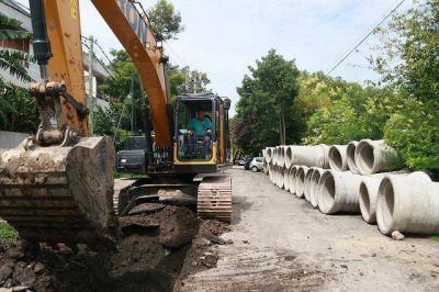 Construyen desagüe en el Bajo de San Isidro
