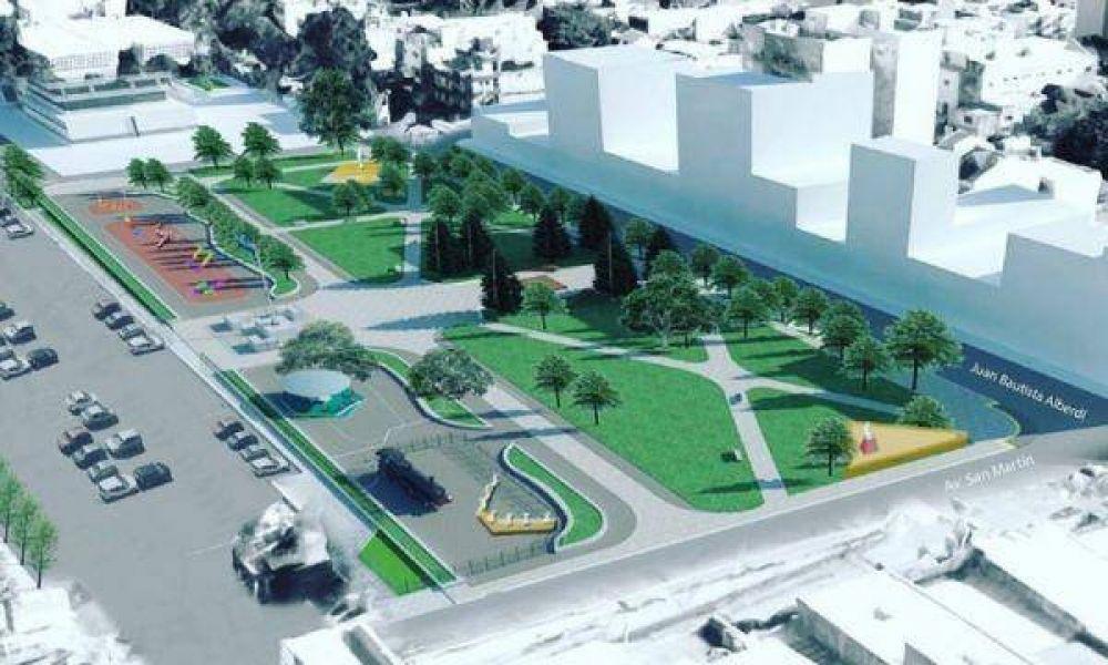 Arrancó la obra que transformará la plaza de Caseros