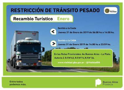 Restricción de camiones por recambio turístico