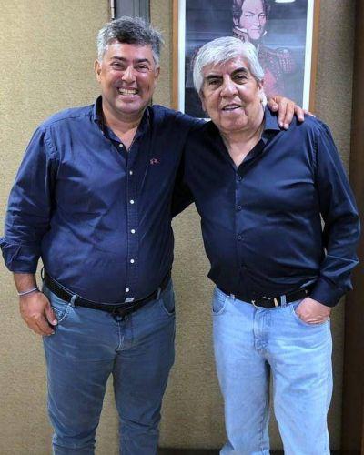 Di Giuseppe se reunió con Moyano y anunció su proyecto de crear un camping municipal en el predio del Rojo en la Ribera