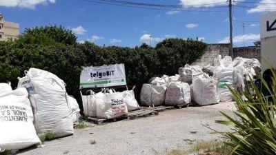La ONG Punto Verde busca un espacio para continuar con el procesamiento del telgopor