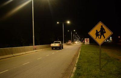 GRAL.BELGRANO: Se habilitó la nueva iluminación de la ruta 41