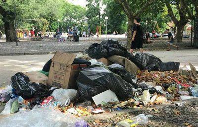 Lamentable falta de limpieza en la Plaza Peralta Ramos