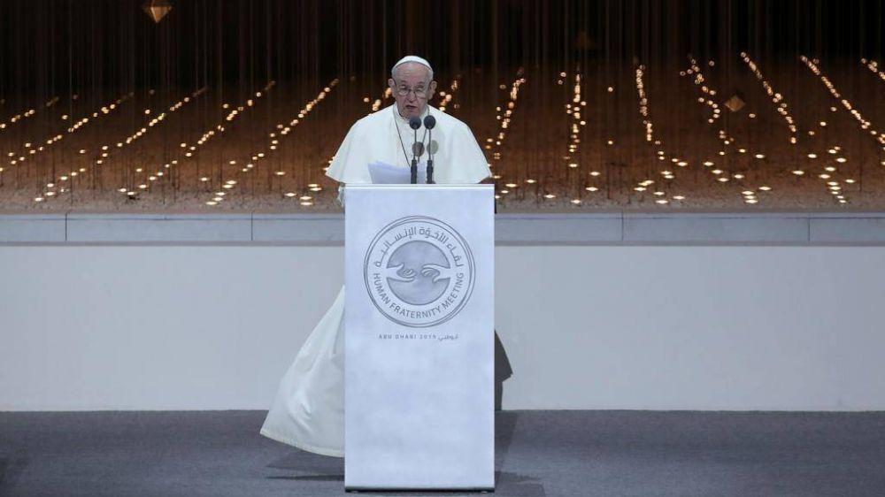 """El Papa a los líderes religiosos: """"O construimos el futuro juntos o no habrá futuro"""""""