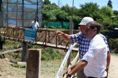 Garro presentó el avance de las obras hidráulicas y viales en el Arroyo Carnaval