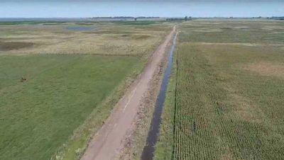 Sigue la limpieza de canales y arreglos en los caminos rurales