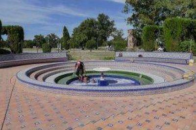 El intendente Bertellys recorrió la obra de recomposición del Patio Andaluz