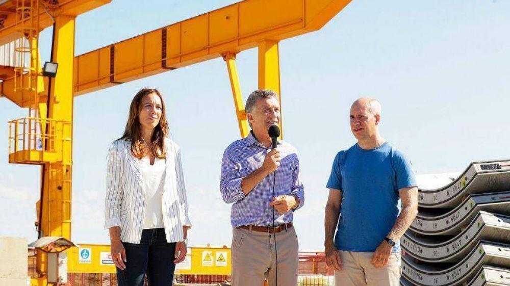 Macri, Vidal y Larreta, en tono de campaña y con discurso unificado