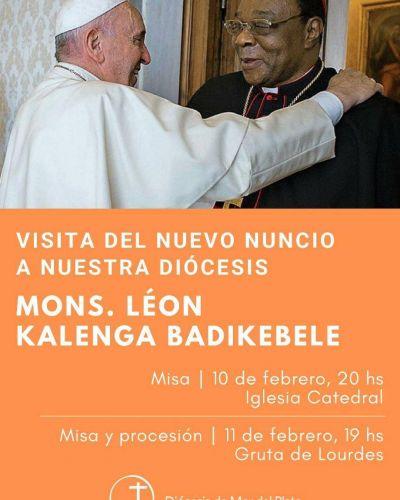El representante del papa Francisco en la Argentina estará en Mar del Plata