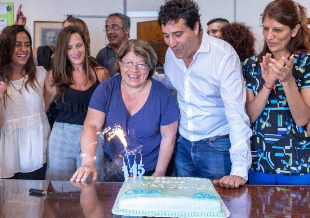 Abad festejó el cumpleaños de Mar del Plata en el Materno Infantil