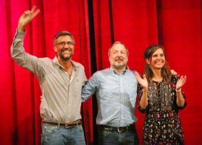 Sabatella encabezó multitudinario acto junto a Fernanda Raverta y Zerillo