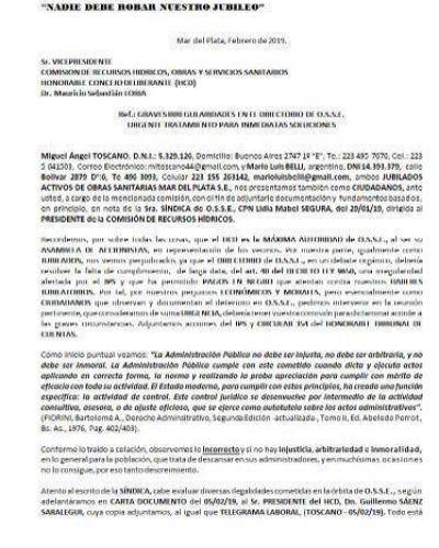 OSSE: Denuncian pseudo conducción y virtual acefalía